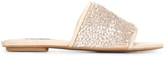 Badgley Mischka Gita sequin-embellished sandals