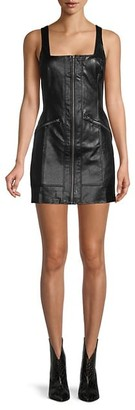 Free People Faux Leather Mini sheath Dress