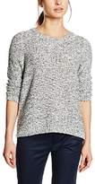 S'Oliver Women's 04.899.61.3156 Long Sleeve Jumper - Blue -