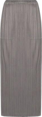 Pleats Please Issey Miyake Plisse-Effect Midi Skirt
