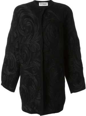 Gianfranco Ferré Pre Owned Swirl Applique Coat