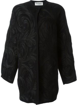 Gianfranco Ferré Pre-Owned Swirl Applique Coat