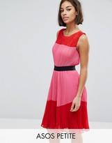 Asos Pleated Color Block Dress