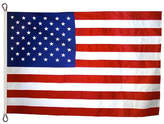 Asstd National Brand American Flag 12x18 ft. Nylon SolarGuard Nyl-Glo by Annin Flagmakers 100% Made in USA with Sewn Stripes Embroidered Stars and Roped Heading. Model