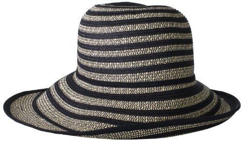 BCBGMAXAZRIA Women's Exaggerated Stripe Floppy Hat