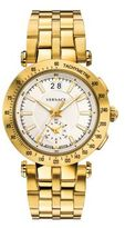Versace V-Race Sport Goldtone Stainless Steel Five-Link Bracelet Watch