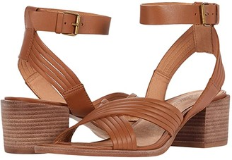 Madewell Olson Multi Strap Heeled Ankle Strap Sandal (English Saddle) Women's Shoes