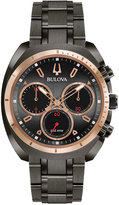 Bulova Men's Chronograph CURV Dark Gray Stainless Steel Bracelet Watch 43mm 98A158