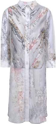 Maison Margiela Printed Silk-chiffon Shirt Dress