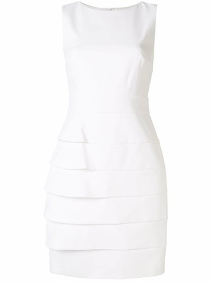 Paule Ka Multi-Layered Tricotine Shift Dress