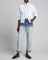 Brunello Cucinelli Degrade Straight-Leg Jeans