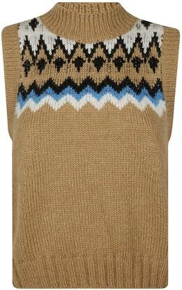 Ermanno Scervino Roll Neck Knitted Gilet