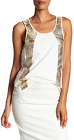 Pierre Balmain Embellished Lace-Up Detail Tank