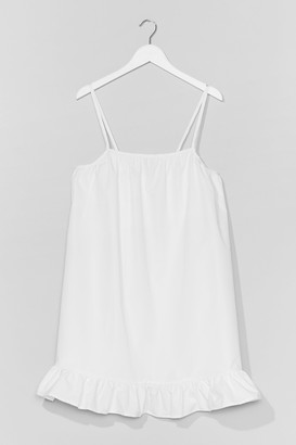 Nasty Gal Womens What Frill It Be Strappy Mini Dress - White - 4