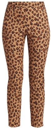 Rosetta Getty Skinny Leopard-Print Pull-On Pants