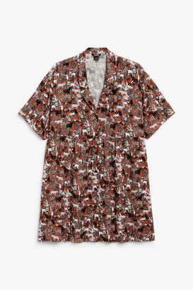 Monki Boxy button-up dress