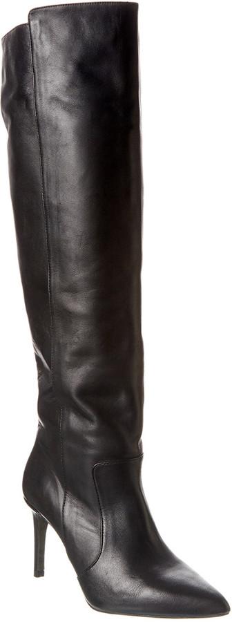 Reiss Zinnia Leather Knee High Boot