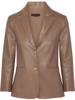 The Row Nolbon Bonded Stretch-leather Blazer - Mushroom