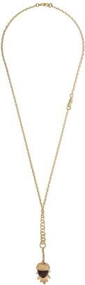 Annoushka 18kt yellow gold Mythology quartz and diamond acorn seed pendant necklace