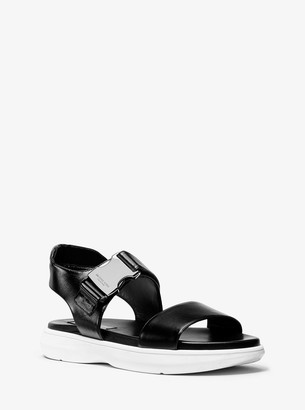 Michael Kors Rhodes Calf Leather Sandal
