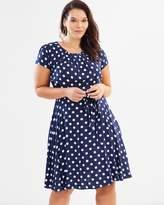 Spot Viscose Dress