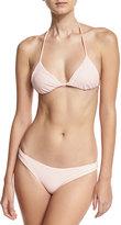 Eberjey Reversible TriangleSwim Top, Pink Pattern