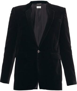 Saint Laurent Single-breasted Corduroy Jacket - Black