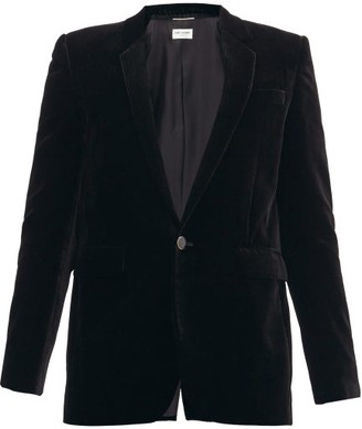 Saint Laurent Single-breasted Velvet-corduroy Jacket - Black