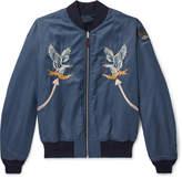 RRL Reversible Embroidered Printed Satin Bomber Jacket