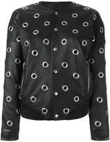 Saint Laurent eyelet teddy jacket