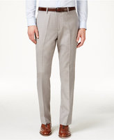 Louis Raphael Men's Straight Fit, Flat-Front Hidden Flex Dress Pants