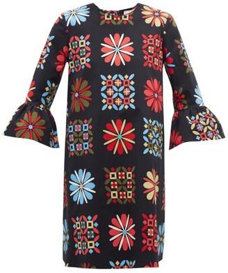 La DoubleJ 24/7 Verata Grande-print Cotton-blend Dress - Black Multi