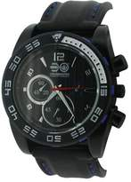 Crosshatch Men's Quartz Watch with Grey Dial Analogue Display and Black Silicone Strap CRS14/D