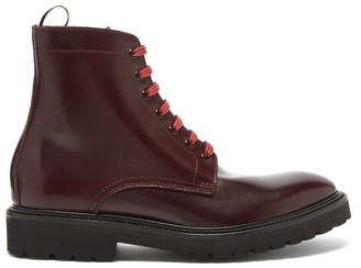 Paul Smith Farley Leather Boots - Burgundy