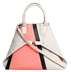 Akris Women's AI Medium Colorblock Top Handle Bag