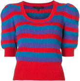 Marc Jacobs striped knitted top - women - Cotton - XS