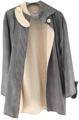 Christian Dior Grey Polyester Coats