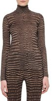Akris Cheetah-Print Turtleneck Sweater, Date/Steppe