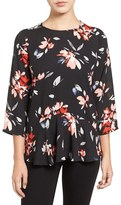 Chaus Women's Ruffled Floral Print Blouse