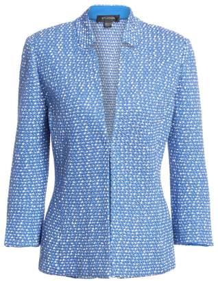 St. John Notched Collar Tweed Jacket