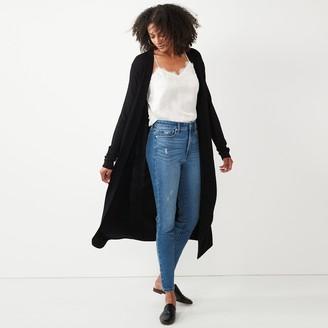 Nine West Women's Long Sleeve Open Cardigan