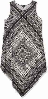 MSK Women's Sleeveless Knit Dress with Hanky Hem