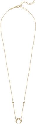 Jacquie Aiche Diamond Crescent Moon Necklace