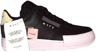 Nike Force 1 Black Rubber Trainers