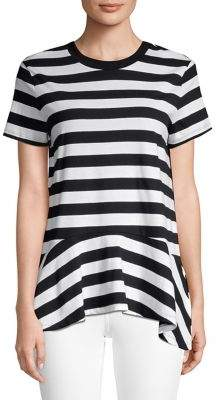 Lord & Taylor Striped Short Sleeve Tee