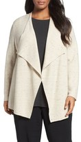 Eileen Fisher Peppered Organic Cotton Blend Cardigan (Plus Size)