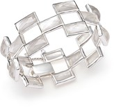 Ippolita Sterling Silver Rock Candy® Stone Mosaic Bracelet in Clear Quartz and Mother-of-Pearl