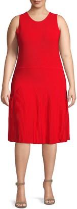 Rachel Roy Plus Sleeveless Knee-Length Dress