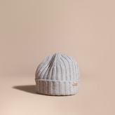 Burberry Ribbed Knit Wool Cashmere Beanie