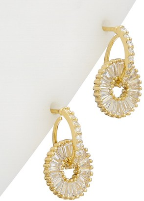 Alanna Bess Limited Collection 14K Over Silver Cz Huggie Earrings